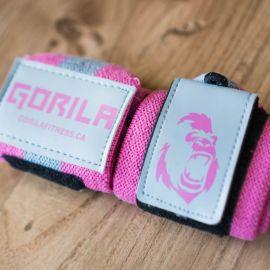 Gorila Wrist Wraps - Pink & Grey - Pair